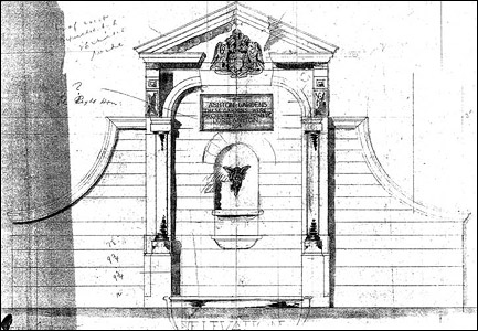 Sawdon's Original Design for the Lord Ashton Monument